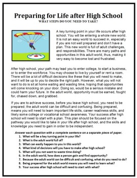 Transition Planning, Preparing for Life after High School, Life Skills
