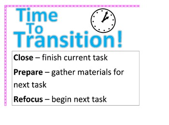 Transition Poster (Pink and White Polka Dot Theme)