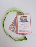 Transition Reminder Cards-COMPLETE SET