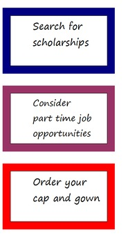 Transition Reminders for Bulletin Board
