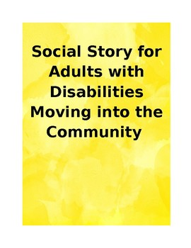 Transition Social Story for Moving into the Community
