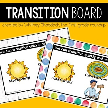 Transition Songs Digital Board