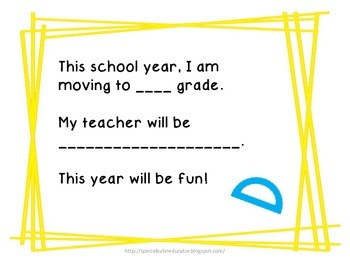 Transition Story for School Year