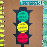 Transition Street Traffic Light (Transition Word Poster)