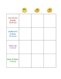 Transitions Support Chart