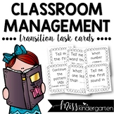 Classroom Management: Transition Task Cards