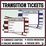 Transitions: Transition Ticket Paragraph Prompts