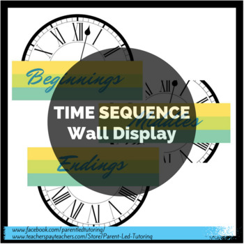 Transition / Time Sequence Words - Wall Display