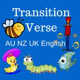 Transition Verse (AU NZ UK English)