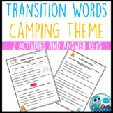 Transition Word Activities (Camping Themed)