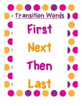 Transition Word Anchor Chart