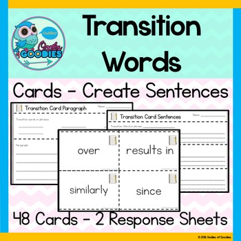 Transition Word Cards Activity