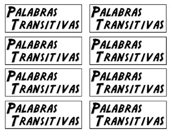 Transition Word Cards - SPANISH