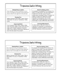 Transition Word Cheat Sheet