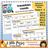 Informative/Explanatory Writing Linking Words & Transitions List