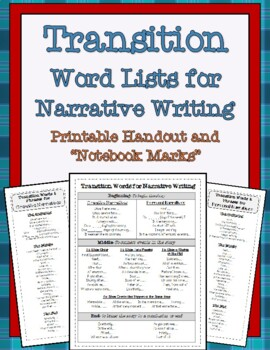 Transition Word Lists for Writers
