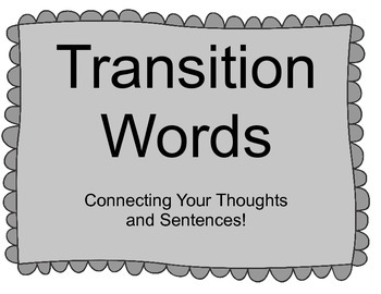 Transition Word Posters for Writing