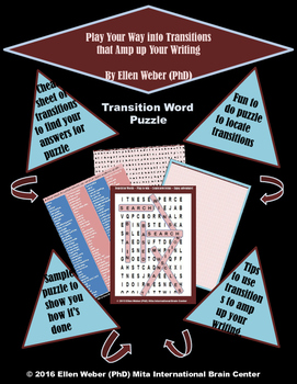 Transition Word Puzzle and Tasks