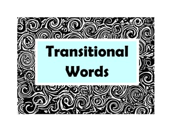 Writing: Transition Word Splashes