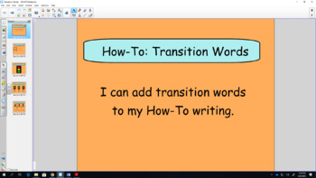 Transition Words - Interactive Whiteboard