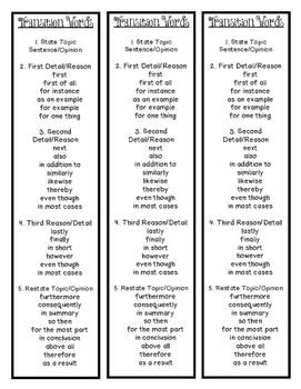 Transition Words Bookmark