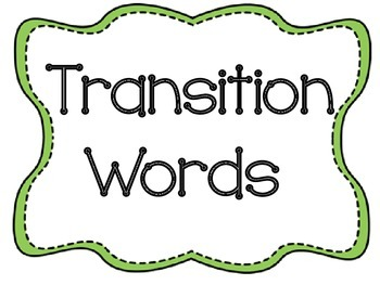 Transition Words Bulletin Board