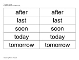 Transition Words Flash Cards