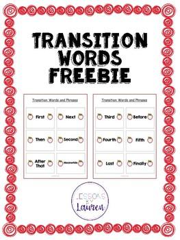 Transition Words Freebie