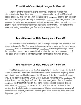 Transition Words Help Paragraphs Flow