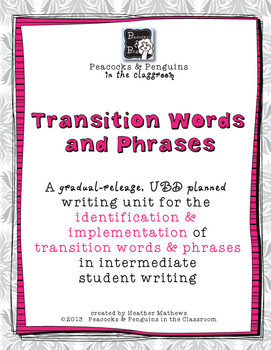 Transition Words - Intermediate Writing Lessons