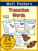 Transition Words POSTERS for Wall Display (45 pages) Butte