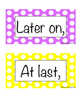 28 Transition Word/Sentence Starter Posters