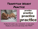 Transition Words Practice