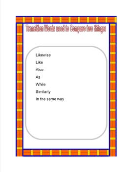 Transition Words Resource Book