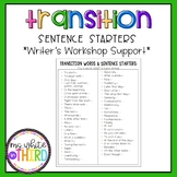 Transition Words & Sentence Starters for Writing