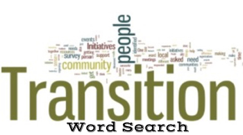 Transition Words Word Search