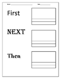 Transition Words- Writing Page