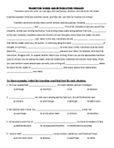 Transition Words and Introductory Phrases Student Handout
