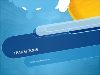 Transition Words and Sentences PPT and Worksheet*