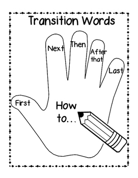 Transition Words for How-To Writing