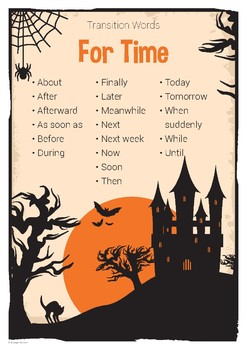 Transition Words for Time Poster