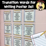 Transition Words for Writing Poster Set