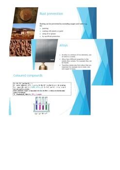 Transition metals - an interactive presentation