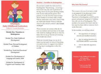Back to School: Transition to Kindergarten (Module 1)