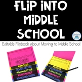 Transition to Middle School Editable Flipbook