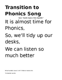 Transition to Phonics Song