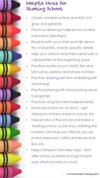 Transition to school - Communication tips