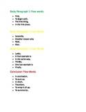Transition words for expository papers