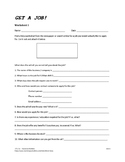 Get a Job! Worksheet