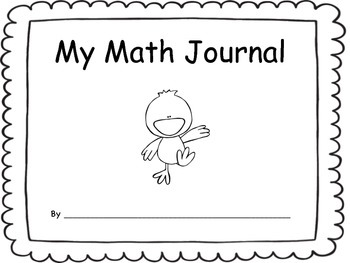 Transitional Kindergarten/Pre-K Math Journal